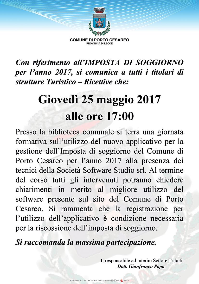 Comune di Porto Cesareo - GIORNATA FORMATIVA IMPOSTA DI ...